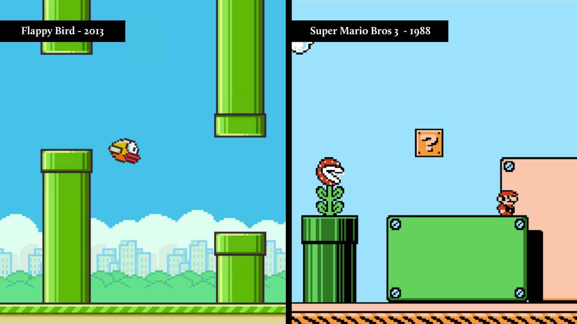 flappy birds vs super mario
