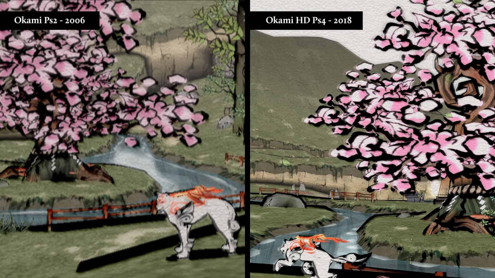 okami ps2 vs ps4