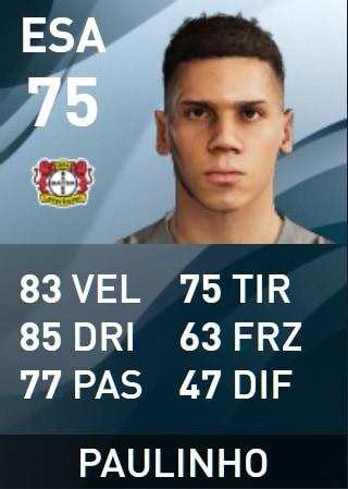 Paulinho PES 2020 Statistiche