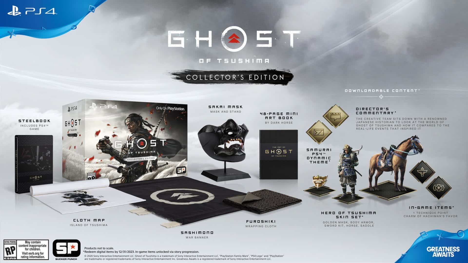 Collectors Edition Ghost of Tsushima