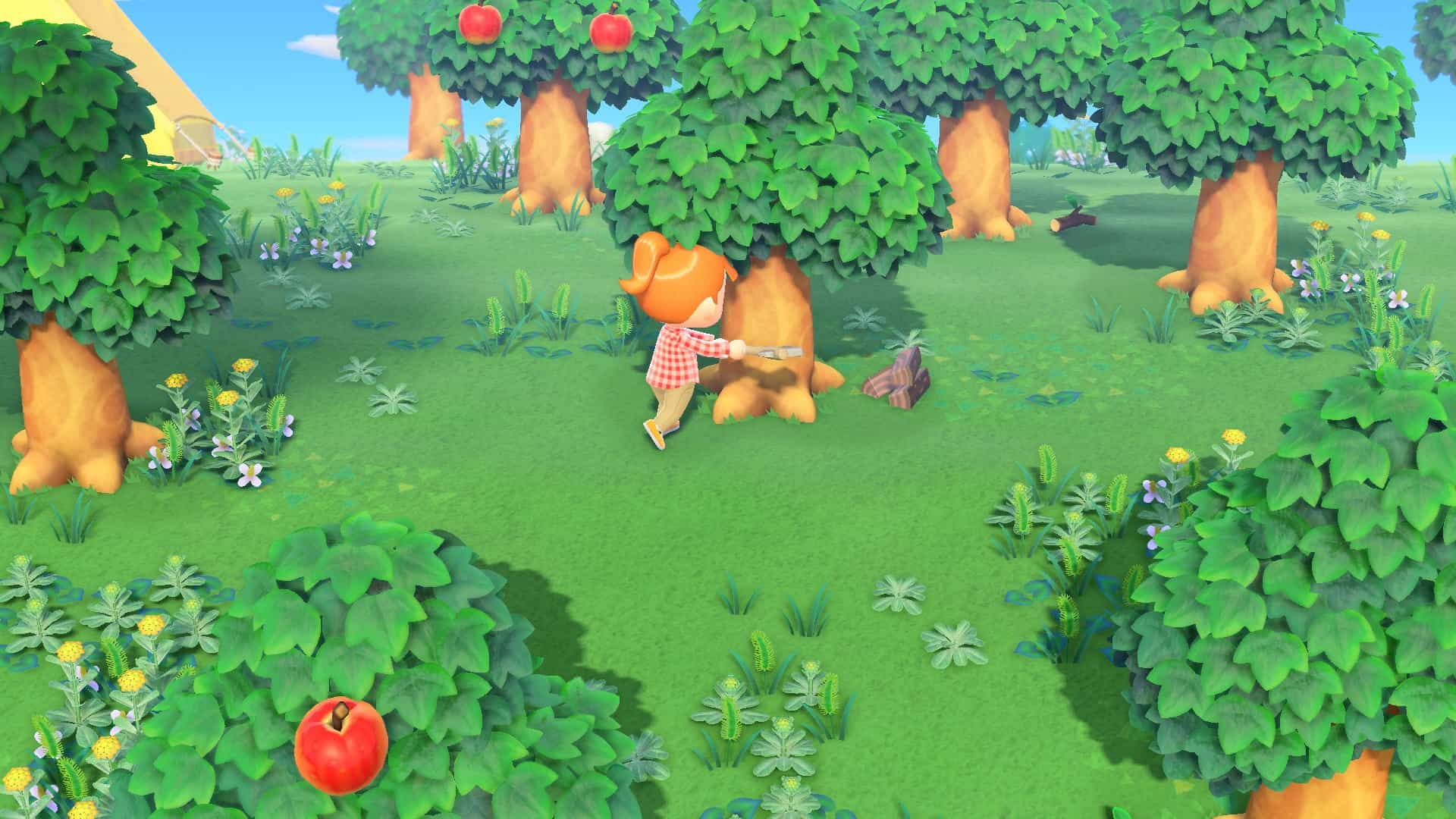 Animal Crossing New Horizons alberi ascia
