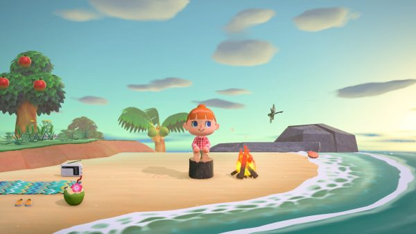 Animal Crossing New Horizons spiaggia