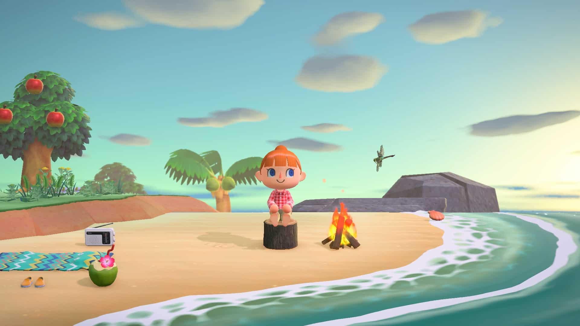 Animal Crossing New Horizons spiaggia