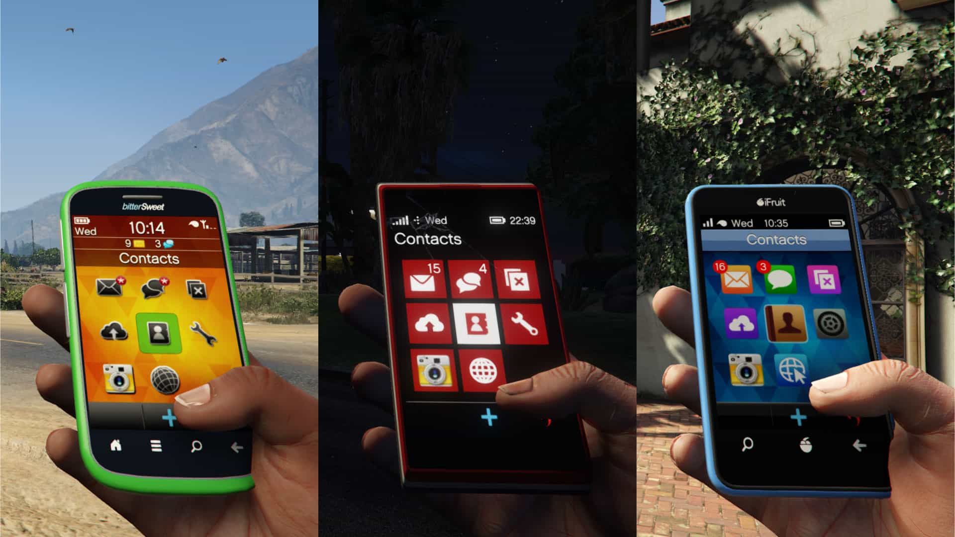Interfacce smartphone GTA 5