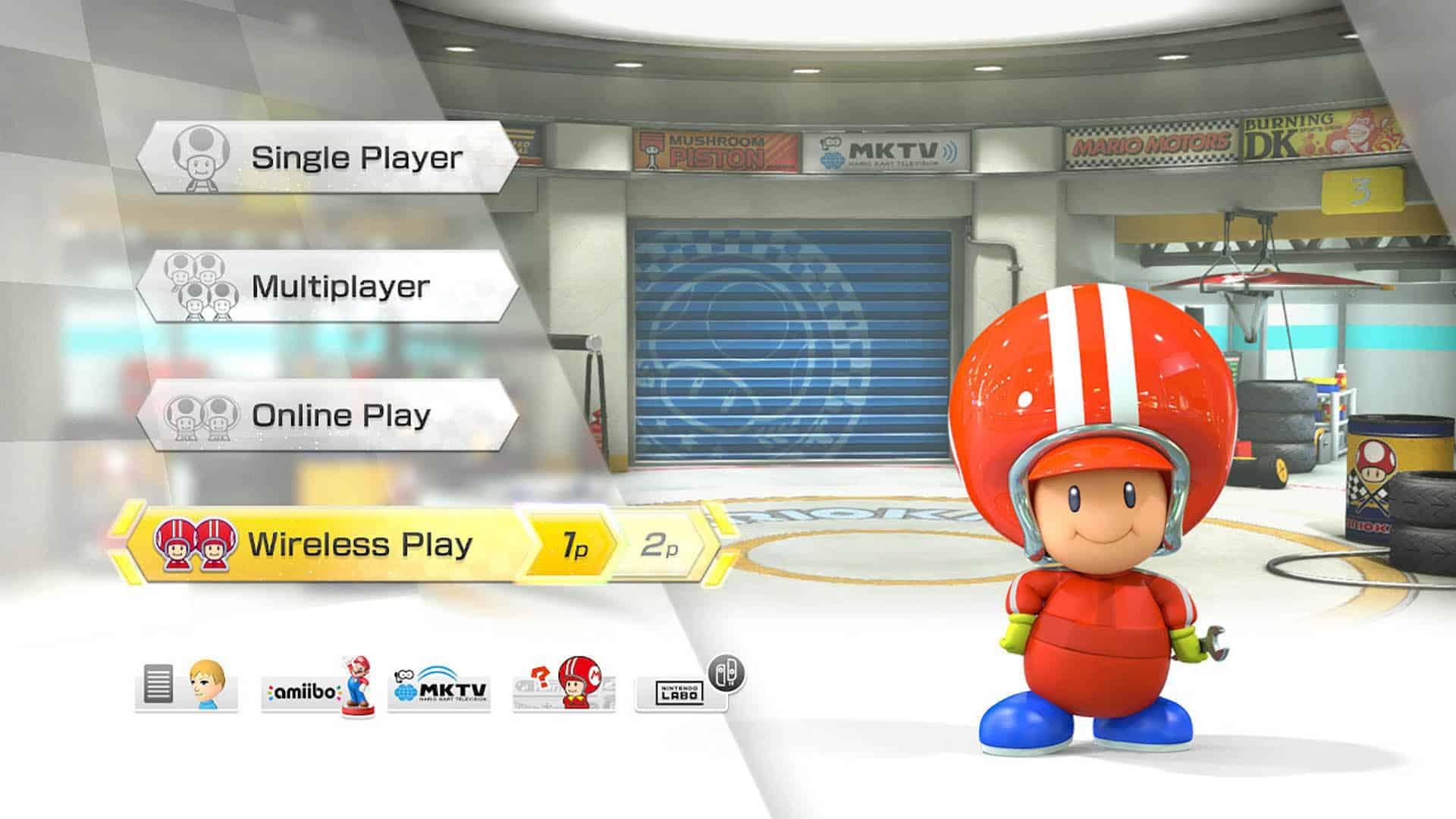 Menu Mario Kart 8 Deluxe