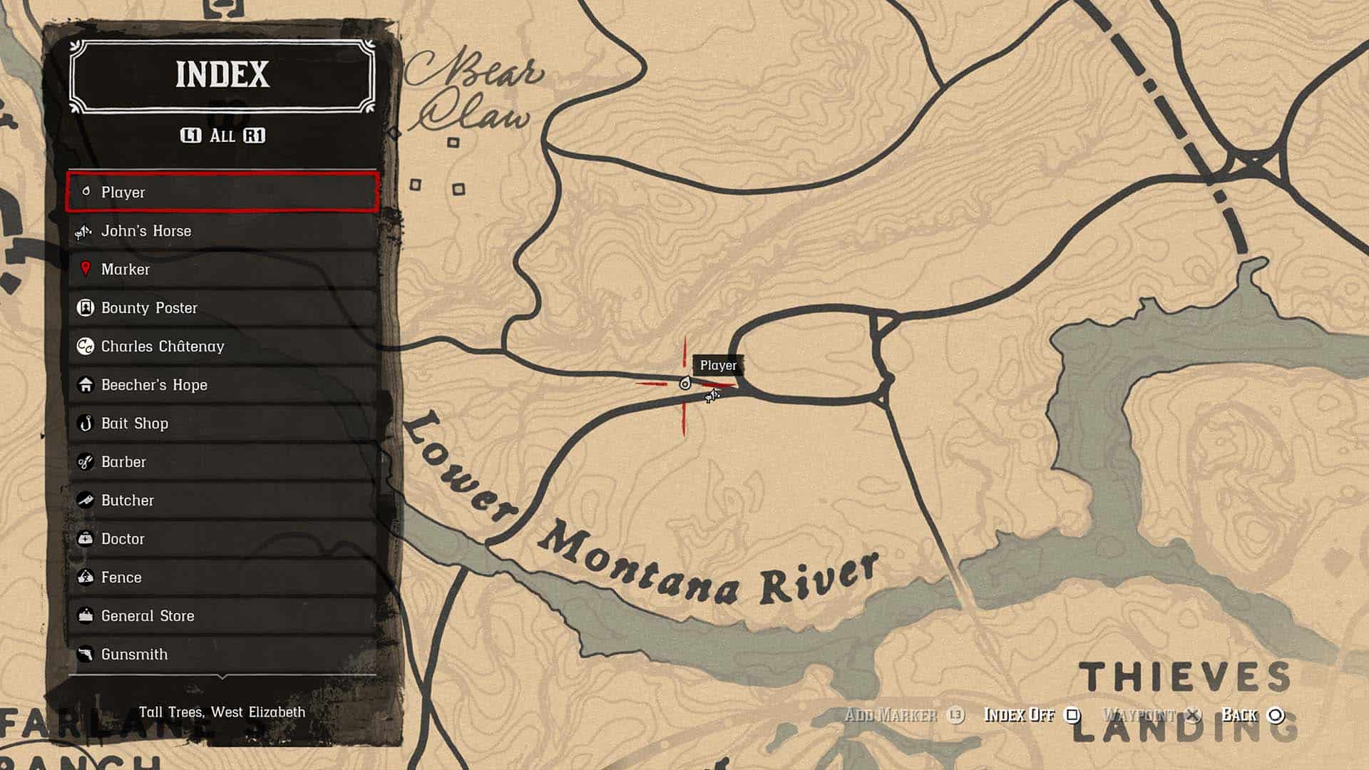 Mappa Red Dead Redemption 2