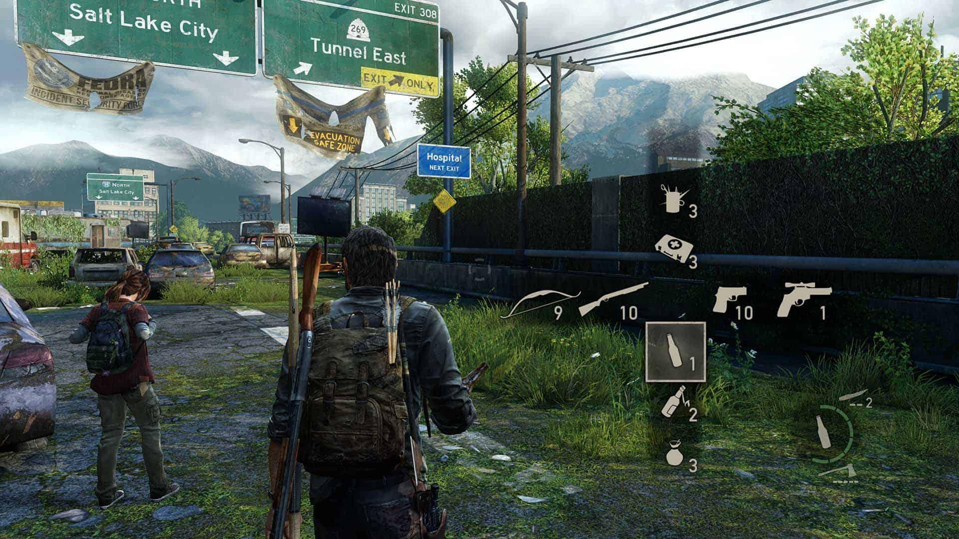 Selezione armi in The Last of Us