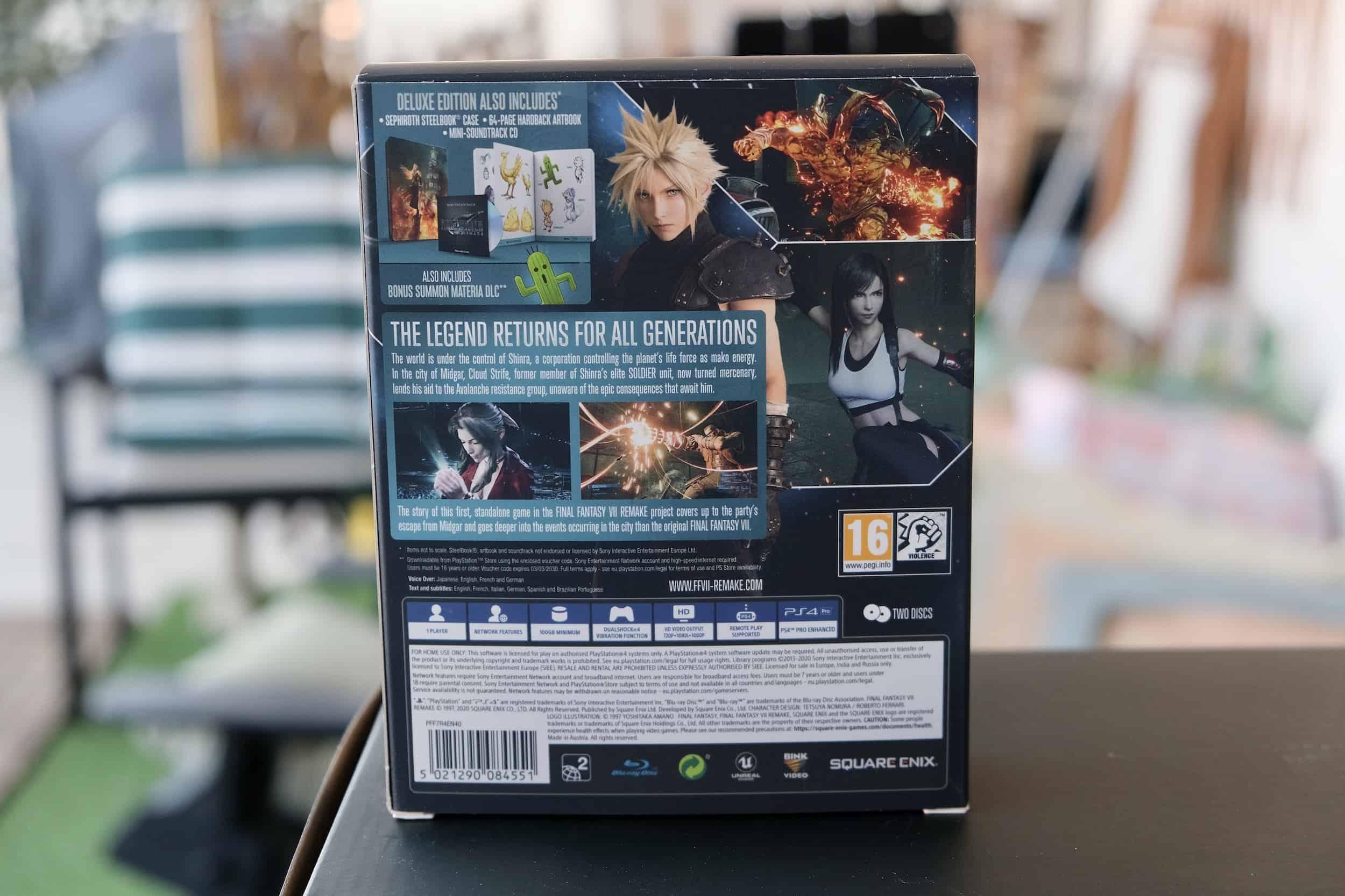 Retro Final Fantasy VII Remake Deluxe Edition