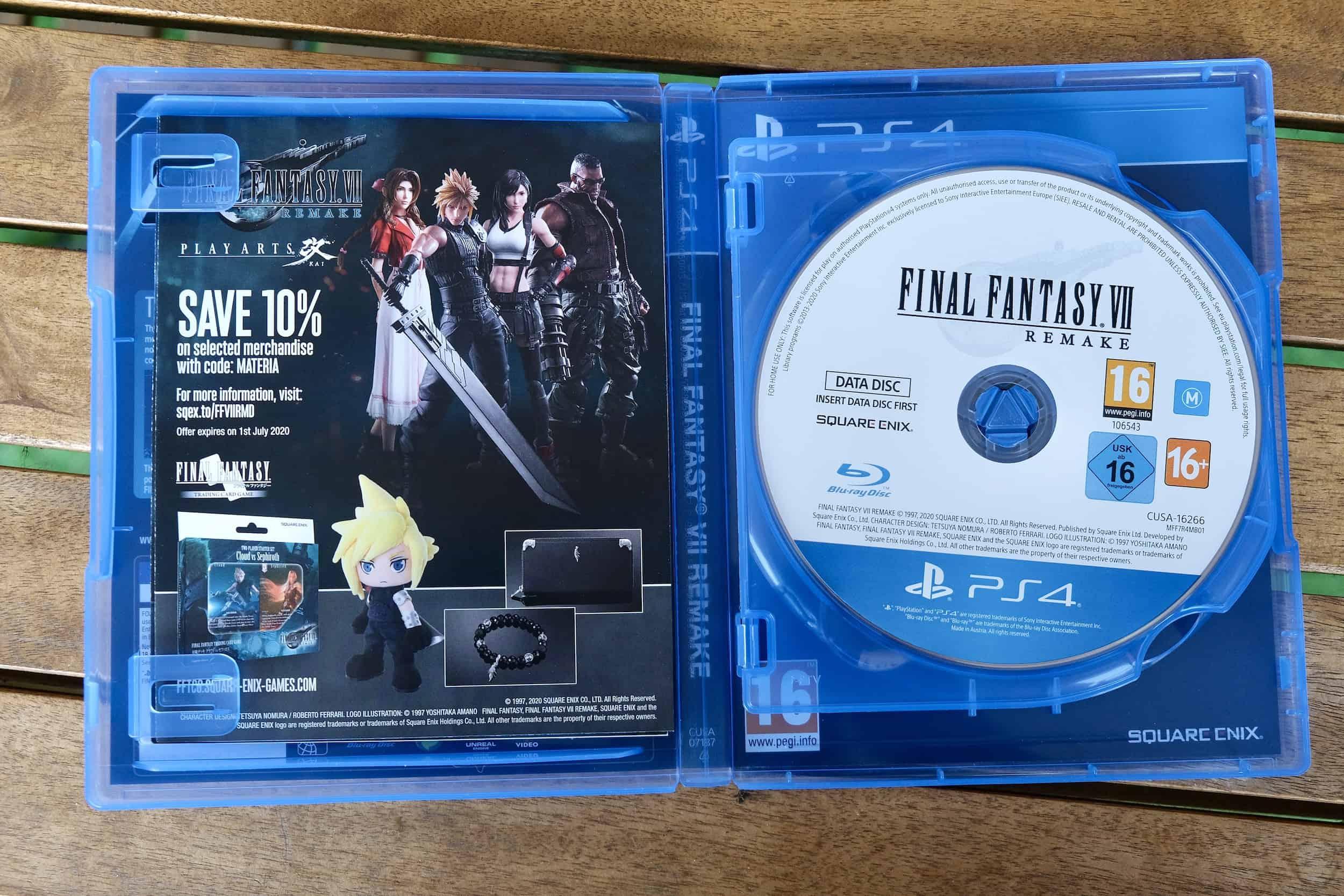 Interno confezione, Final Fantasy VII Remake