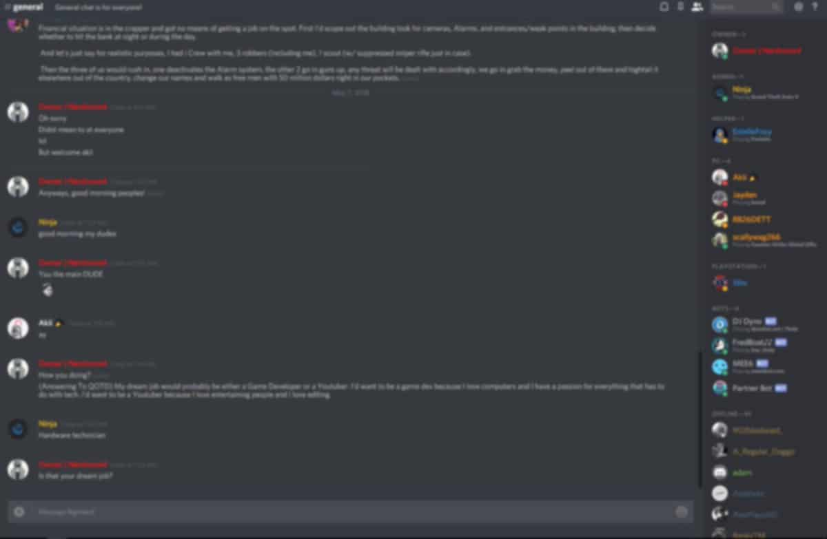 Chat discord