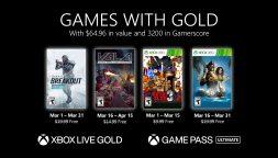Xbox Games With Gold, le novità di marzo