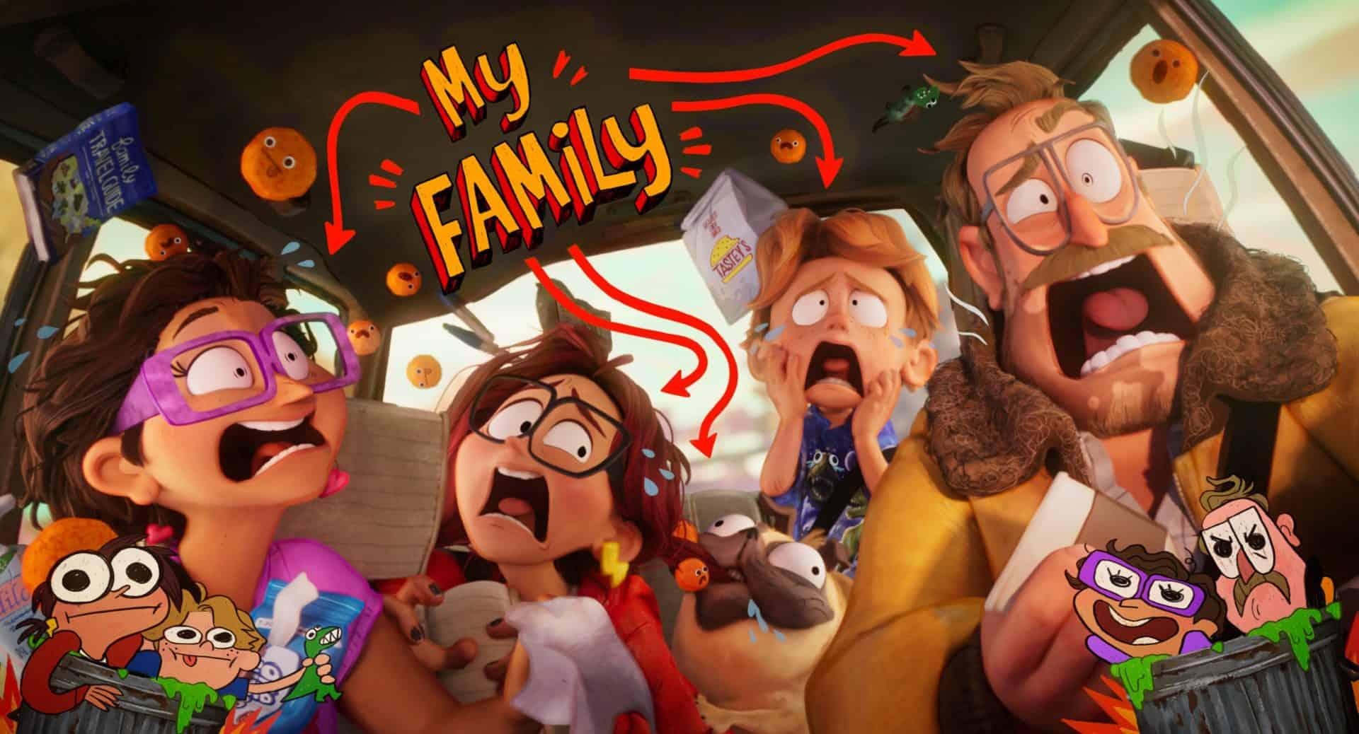 La famiglia Mitchell al completo