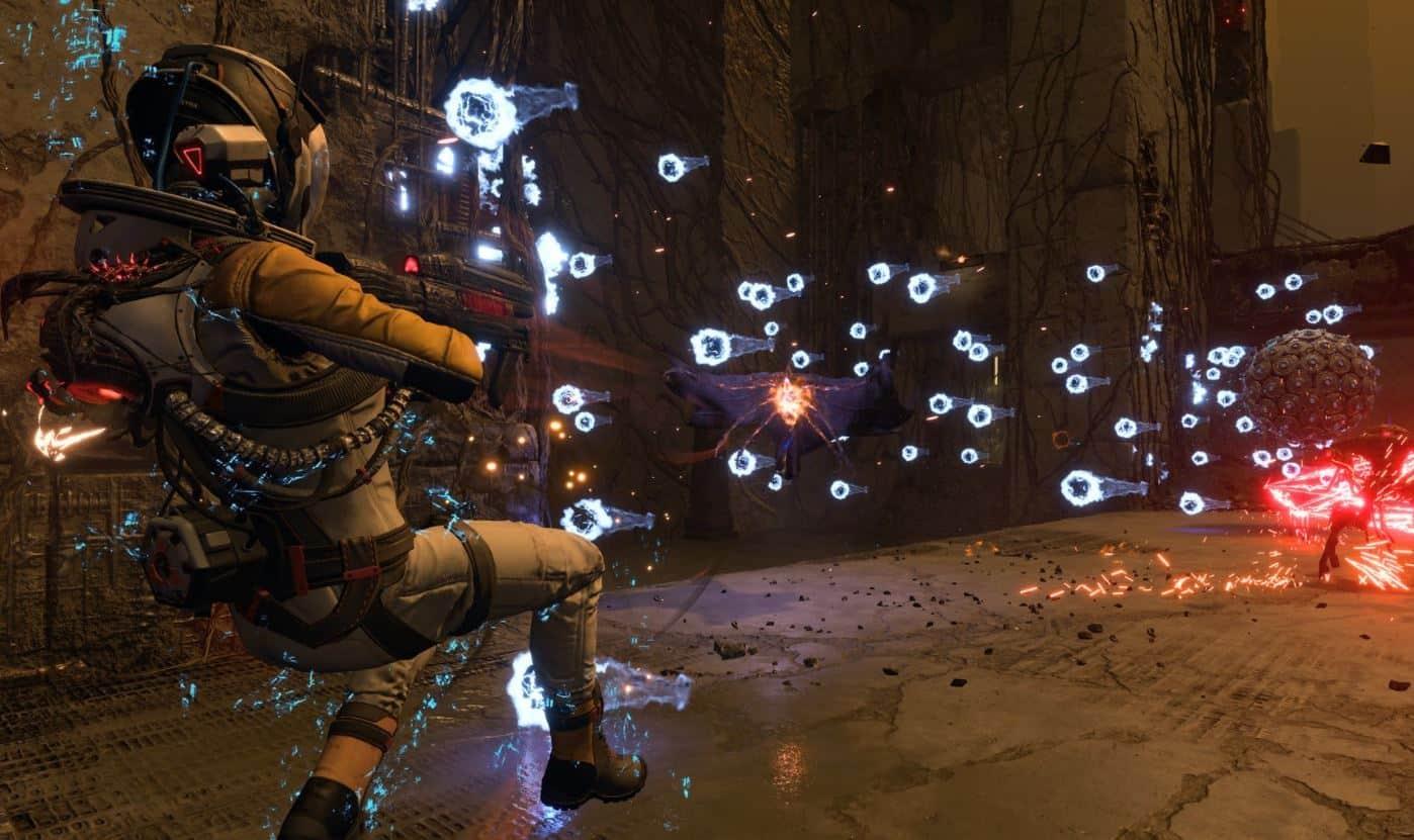 Returnal, combattimento bullet-hell