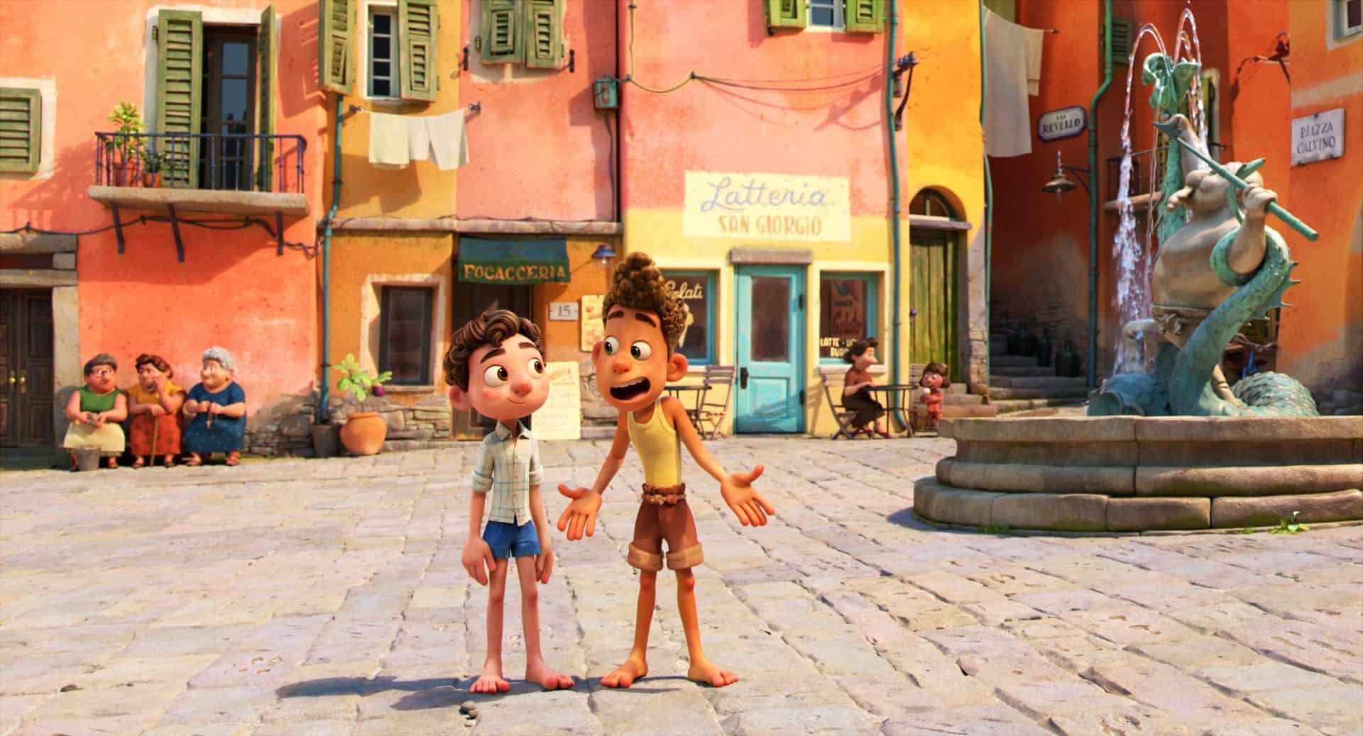 Luca e Alberto in una scena del film Luca